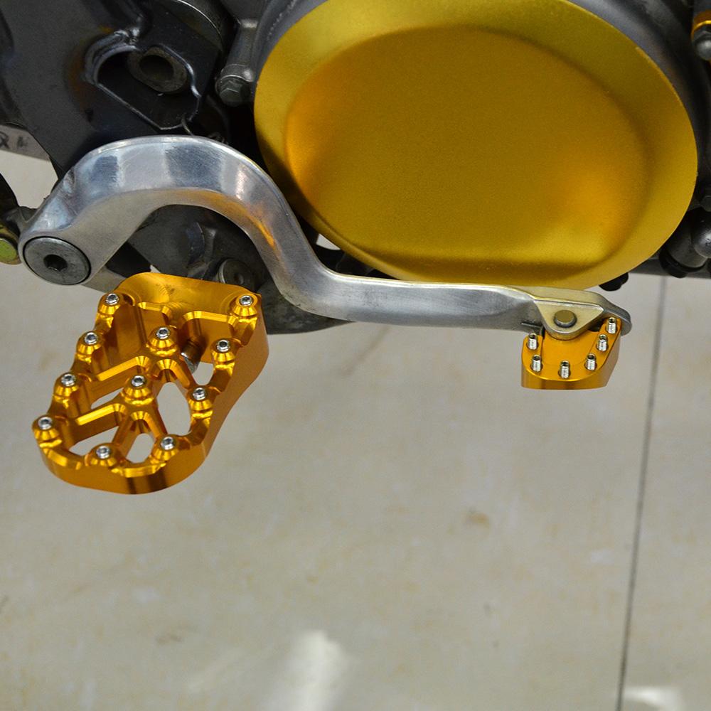 NiceCNC MX Brake Pedal Cover Tip Foot Peg Pad For Suzuki DRZ400 E//S//SM 2000-2021