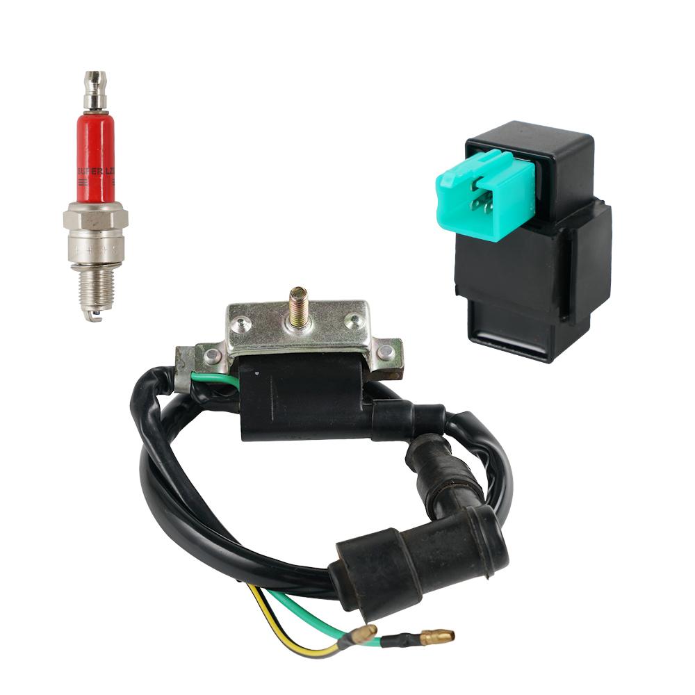 Ignition Coil W// Metal Spark Plug 50cc 70cc 90cc 110cc 125cc Atv Dirt Bike Quad
