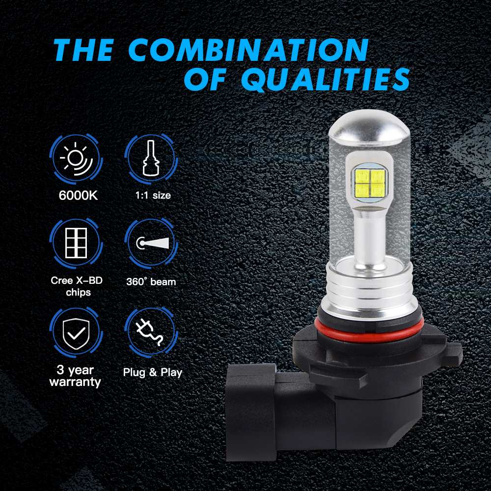 9005 Hb3 Led Headlight Bulbs 80w Cree For Can Am Commander