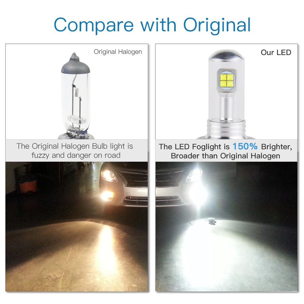 H4 9003 HB2 LED Headlights Hi//Low Bulbs For Yamaha Grizzly 550 700 YFM550 YFM700