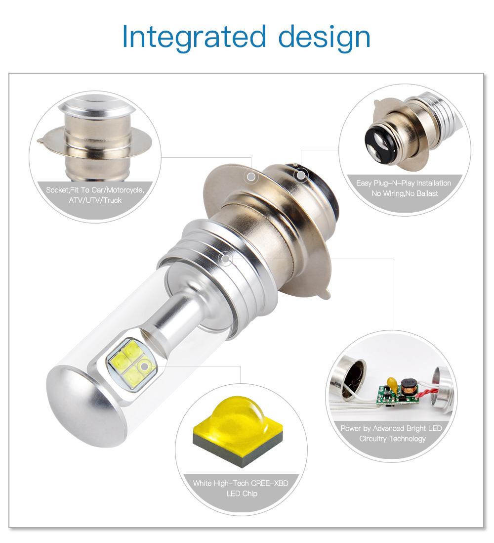 Bevinsee Cree LED Headlight Bulb For Yamaha YFZ450 YFZ 450 450R 450X Super White