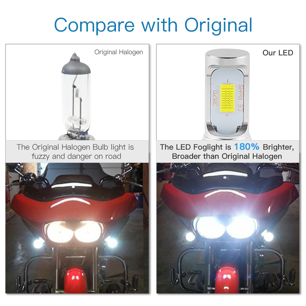 H6 LED Headlight Bulb For KTM 250 450 2006-2016 Husaberg FE450 FE570 2009-2012