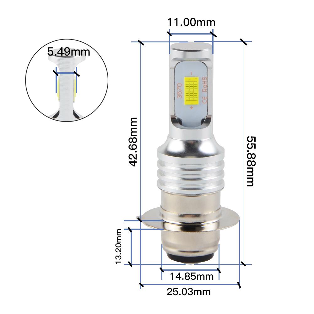 Bevinsee Cree LED Headlight Bulb For Yamaha Raptor 125 250 660R 700R Rhino 700