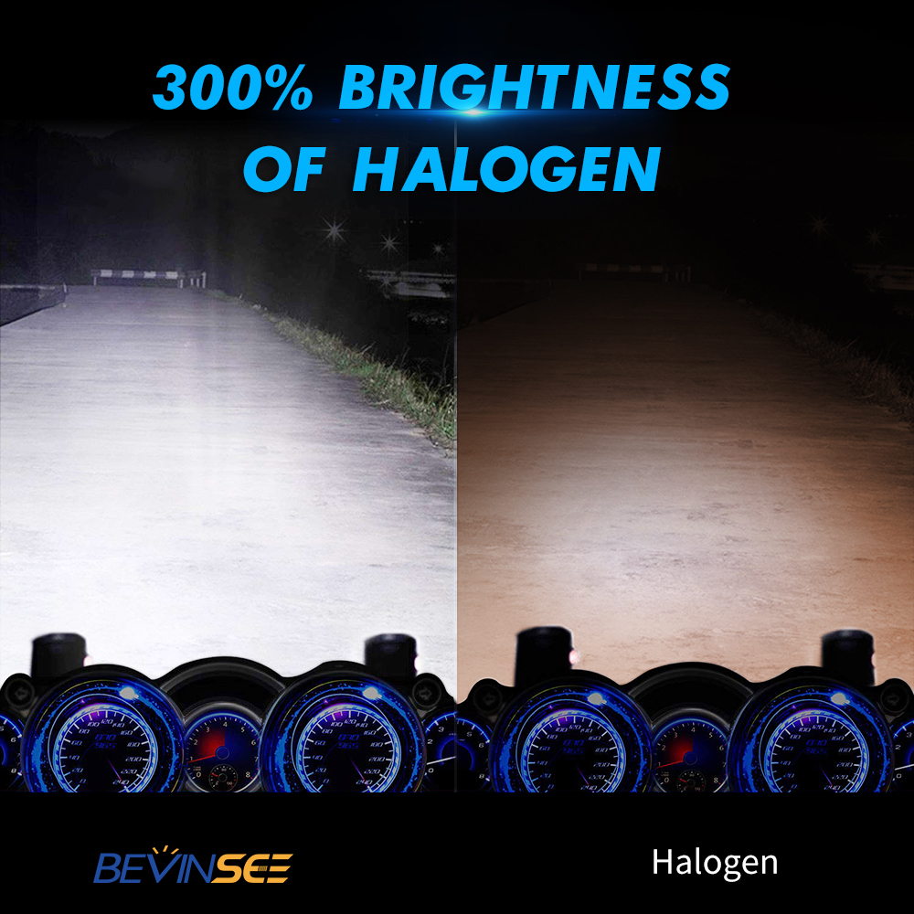 Bevinsee H4 9003 LED Headlight Bulb For Kawasaki Ninja 1000 250R 500R ZX12R ZX6R