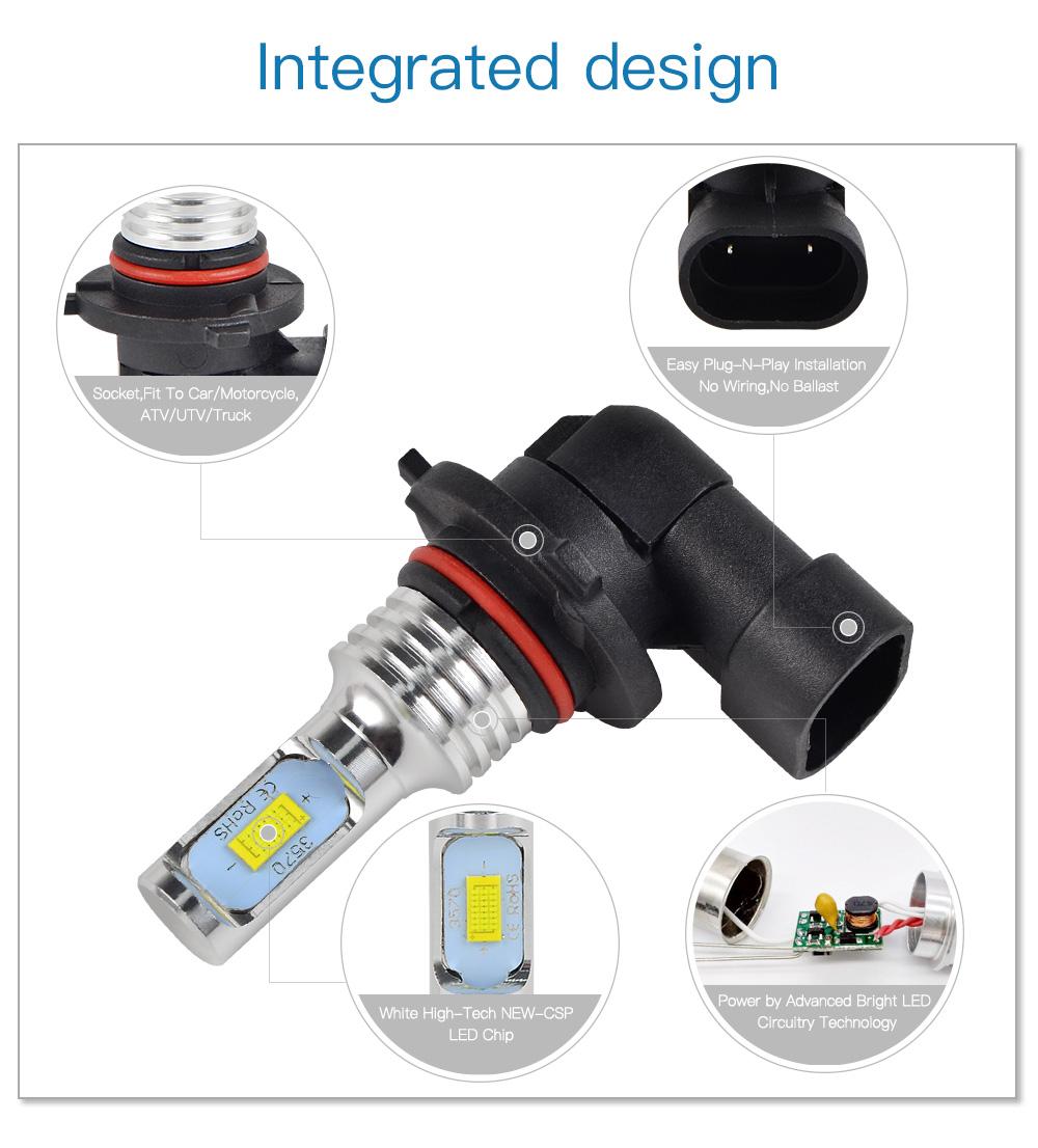 9006 CSP LED Headlight Kit Bulb For Yamaha XV1900S Roadliner S