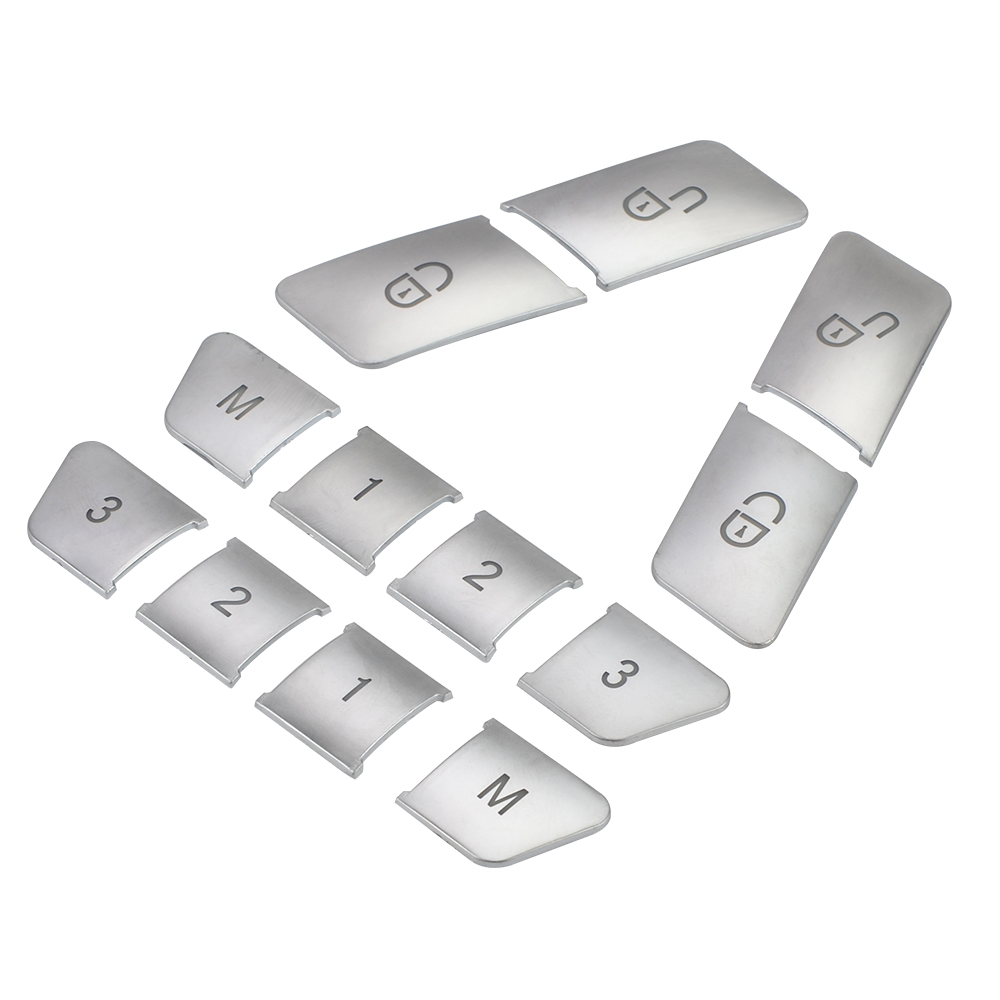 For Benz C Class W204 2008-2013 Memory Button Cover Trim Lock Seat 12pcs Useful