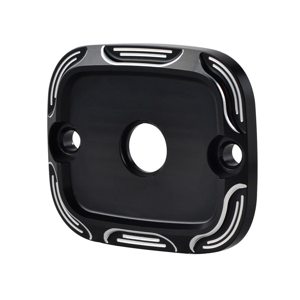 CNC Cut Front Brake Fluid Reservoir Master Cylinder Cover For Harley Davidson US