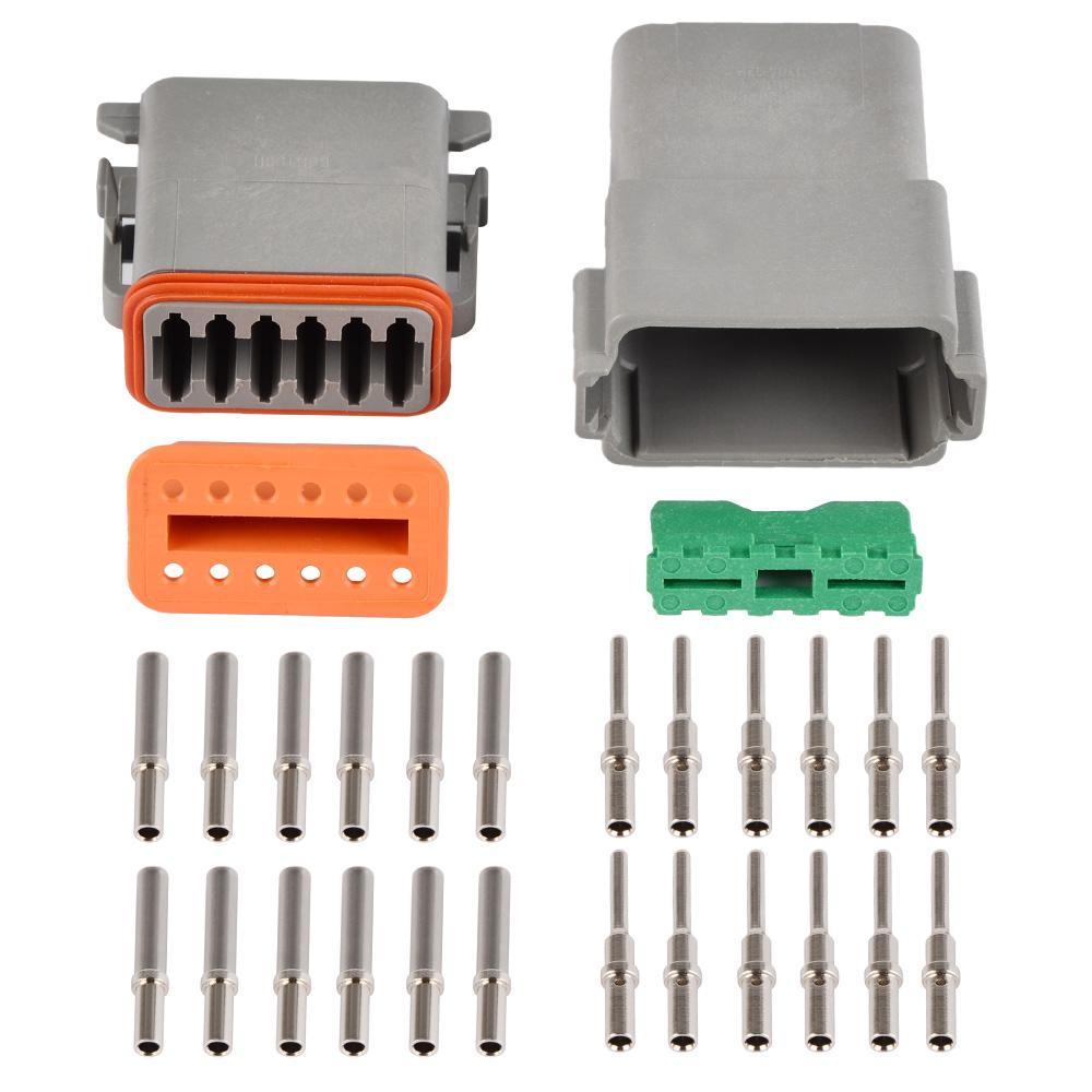 Deutsch 12 Pin Connector Kit: MSD 8186 Deutsch DT 12 Pin Connector Kit 18-16 GA W12P